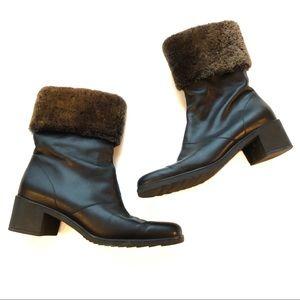 Salvatore Ferragamo Boots Heeled Faux Fur Top